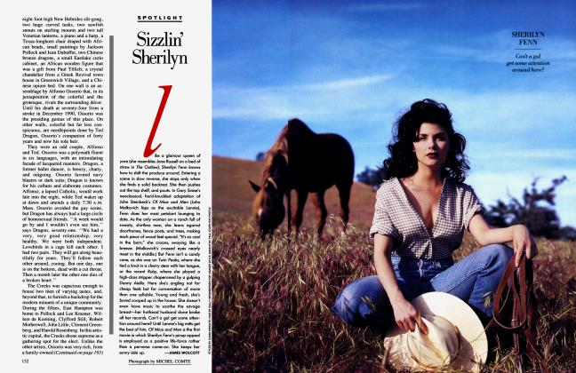 Article Preview: Sizzlin' Sherilyn, August 1992 1992 | Vanity Fair