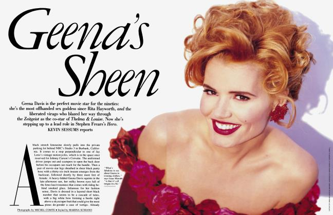 Article Preview: Geena's Sheen, September 1992 | Vanity Fair