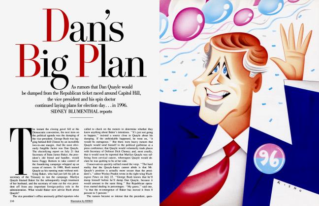 Article Preview: Dan's Big Plan, September 1992 | Vanity Fair
