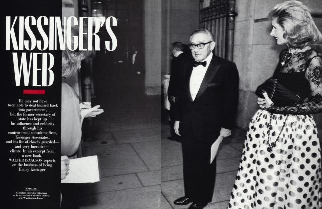 Article Preview: KISSINGER'S WEB, September 1992 | Vanity Fair