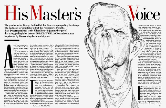 Article Preview: His Master's Voice, October 1992 1992 | Vanity Fair