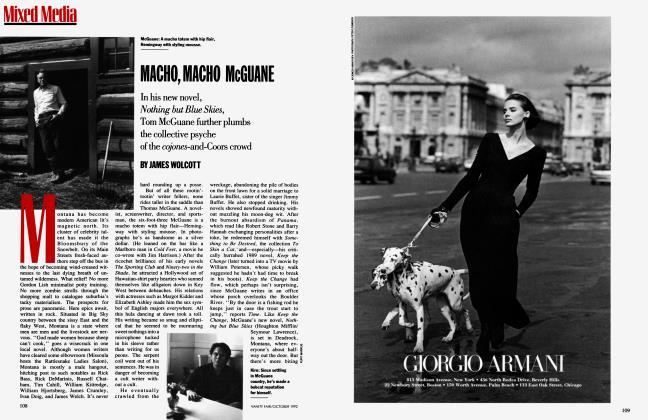 Article Preview: MACHO, MACHO McGUANE, October 1992 1992 | Vanity Fair