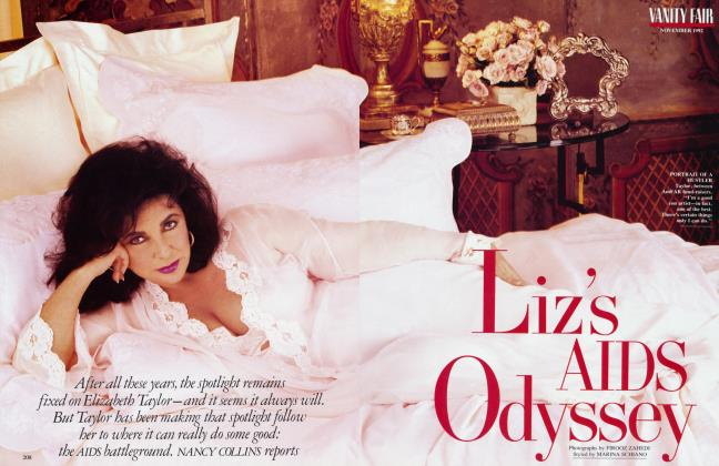 Article Preview: Liz's AIDS Odyssey, November 1992 1992 | Vanity Fair