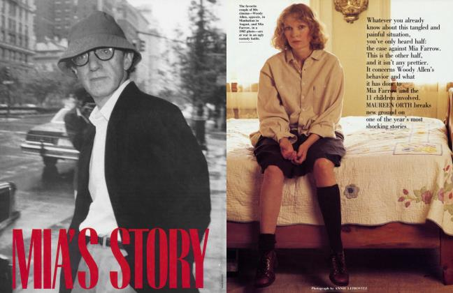Article Preview: MIA'S STORY, November 1992 1992 | Vanity Fair