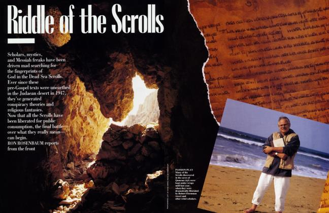 Article Preview: Riddle of the Scrolls, November 1992 | Vanity Fair