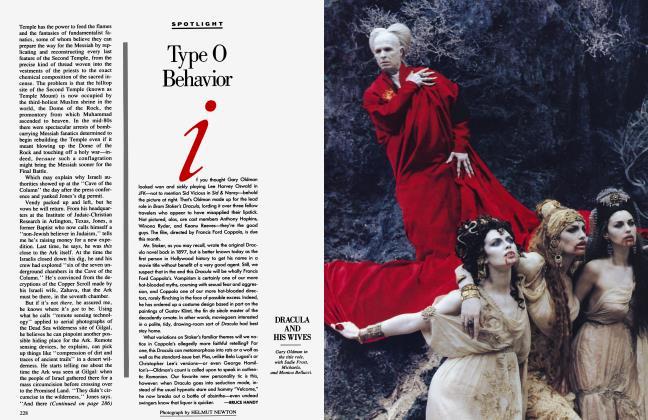 Article Preview: Type O Behavior, November 1992 1992 | Vanity Fair