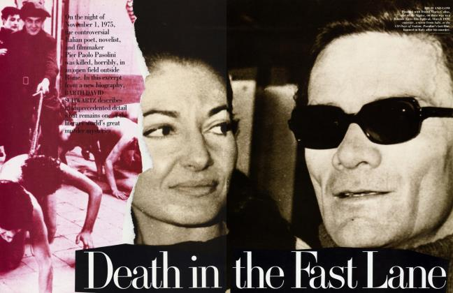 Article Preview: Death in the Fast Lane, November 1992 | Vanity Fair