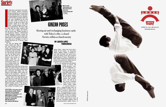 Article Preview: GINZAN POSES, November 1992 | Vanity Fair