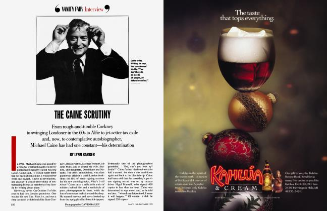 Article Preview: THE CAINE SCRUTINY, December 1992 1992 | Vanity Fair