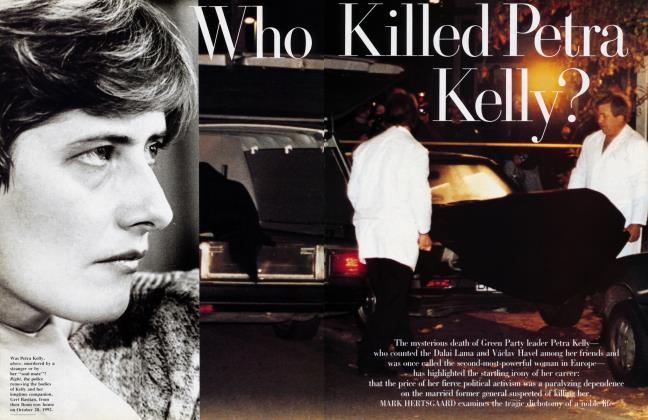 Article Preview: Who Killed Petra Kelly?, January 1993 1993 | Vanity Fair