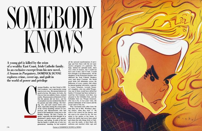 Article Preview: SOMEBODY KNOWS, April 1993 1993 | Vanity Fair