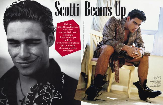 Article Preview: Scotti Beams Up, April 1993 1993   Vanity Fair
