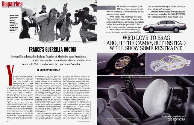 Article Preview: FRANCE'S GUERRILLA DOCTOR, April 1993   Vanity Fair