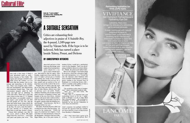Article Preview: A SUITABLE SENSATION, June 1993 1993 | Vanity Fair