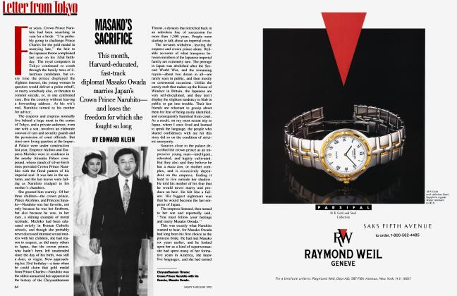 Article Preview: MASAKO'S SACRIFICE, June 1993 1993 | Vanity Fair