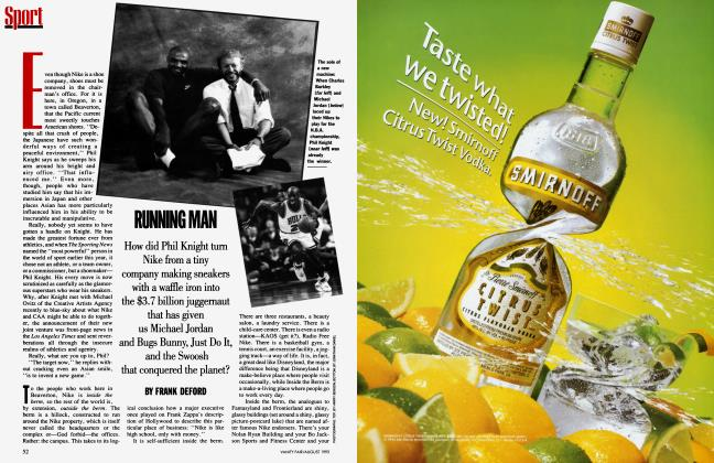 Article Preview: RUNNING MAN, August 1993 1993 | Vanity Fair