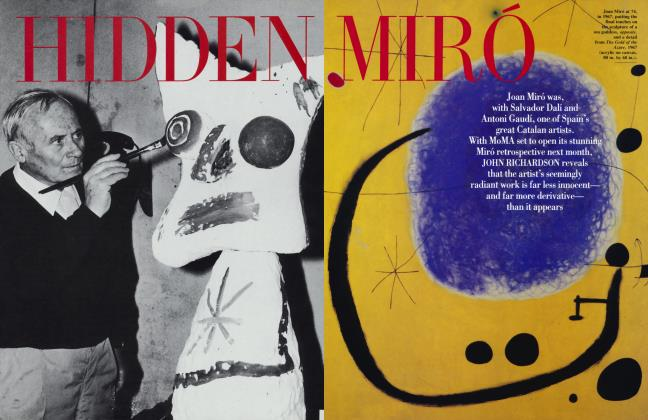 Article Preview: HIDDEN MIRÓ, September 1993 1993 | Vanity Fair