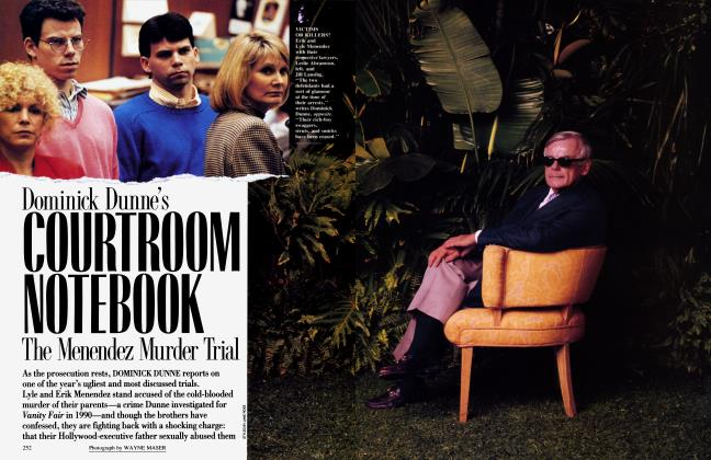 Article Preview: Dominick Dunne's COURTROOM NOTEBOOK: The Menendez Murder Trial, October 1993 1993 | Vanity Fair