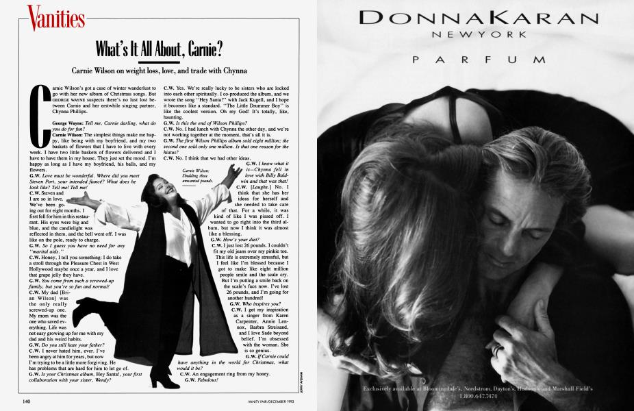 What's It All lout, Carnie?   Vanity Fair   December 1993