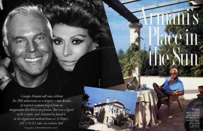 Article Preview: Armani's Place in the Sun, January 1994 | Vanity Fair
