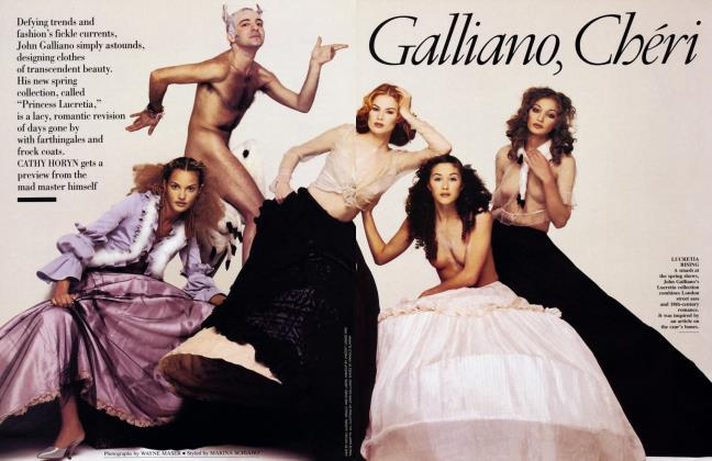 Article Preview: Galliano, Chéri, February 1994 1994 | Vanity Fair