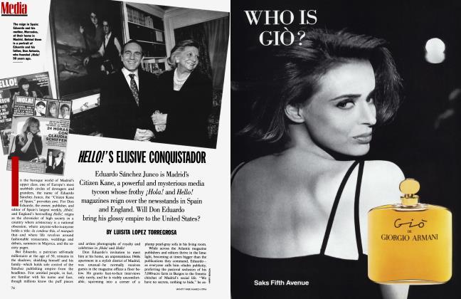 Article Preview: HELLO!'S ELUSIVE CONQUISTADOR, March 1994 1994   Vanity Fair