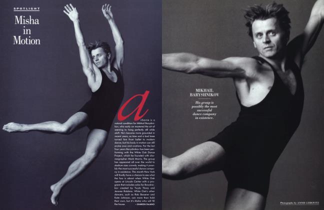 Article Preview: Misha in Motion, March 1994 1994 | Vanity Fair