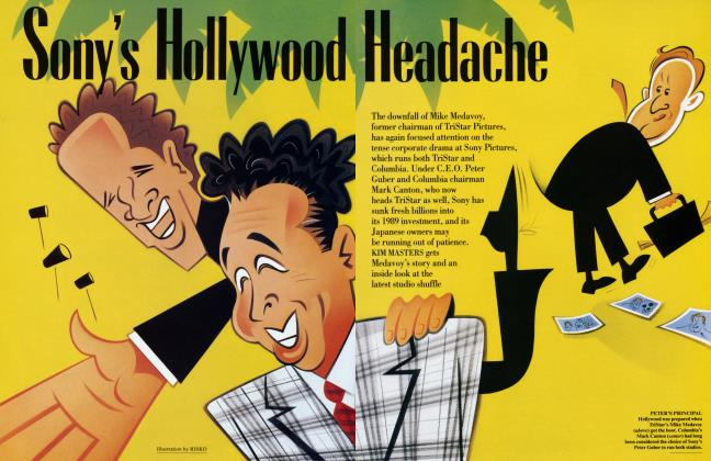 Article Preview: Sony's Hollywood Headache, April 1994 1994 | Vanity Fair