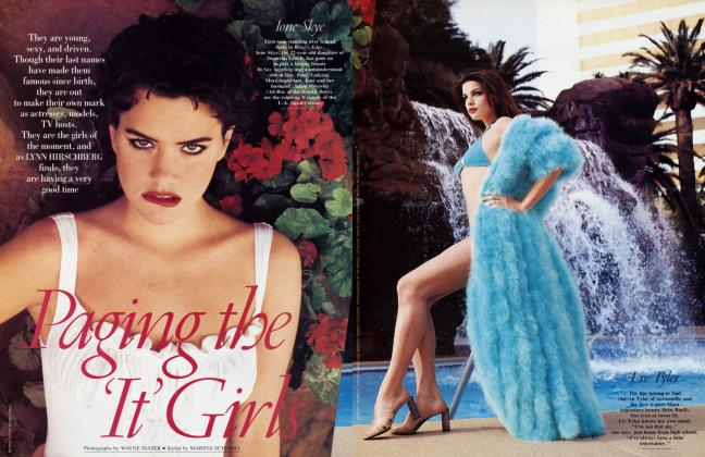 Article Preview: Paging the 'It' Girls, April 1994 1994 | Vanity Fair