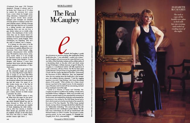 Article Preview: The Real McCaughey, May 1994 1994 | Vanity Fair