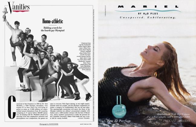 Article Preview: Homo-athletic, July 1994 1994 | Vanity Fair