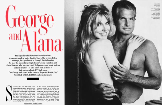 Article Preview: George and Alana, August 1994 1994 | Vanity Fair