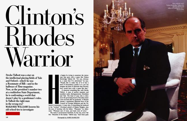Article Preview: Clinton's Rhodes Warrior, September 1994 | Vanity Fair