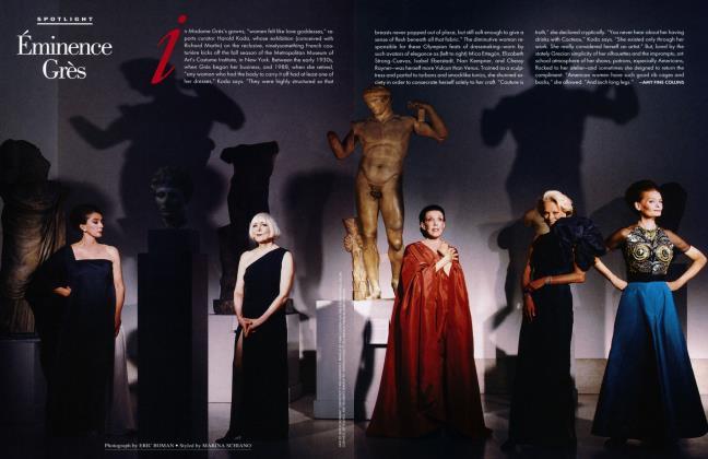 Article Preview: Éminence Grès, September 1994 1994 | Vanity Fair