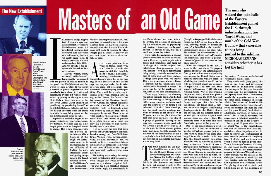 Masters of an Old Game