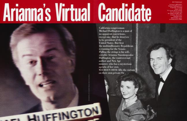 Article Preview: Arianna's Virtual Candidate, November 1994 1994 | Vanity Fair