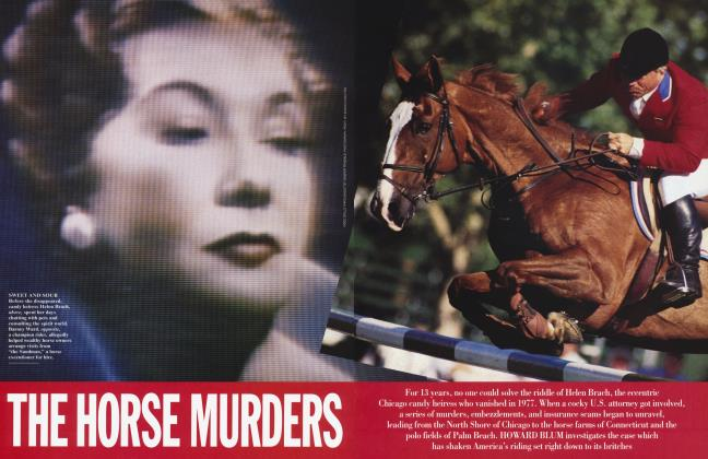 Article Preview: THE HORSE MURDERS, January 1995 | Vanity Fair