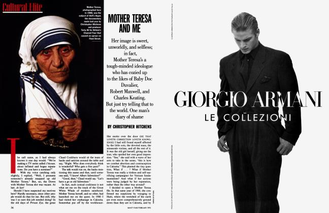 Article Preview: MOTHER TERESA AND ME, February 1995 1995 | Vanity Fair