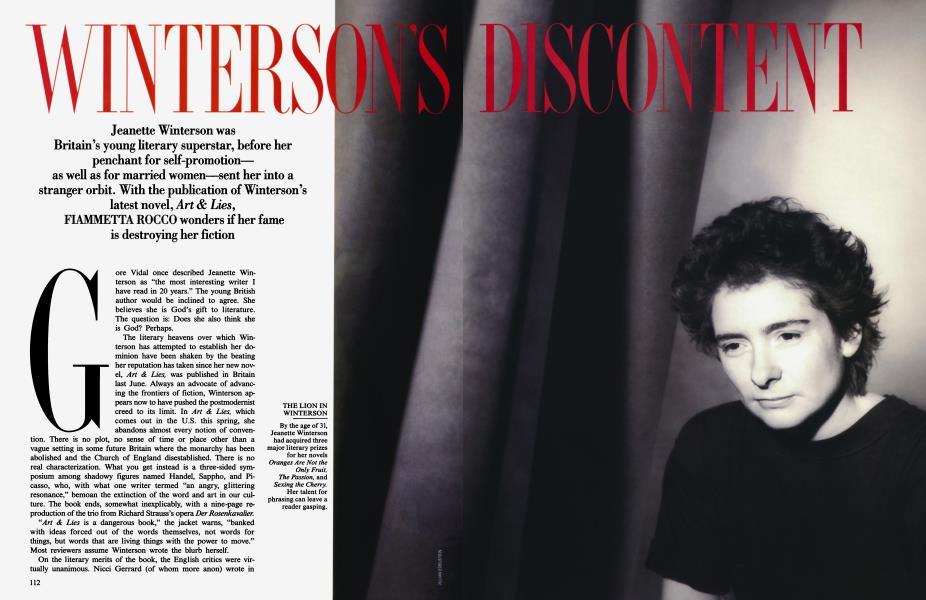 WINTERSON'S DISCONTENT