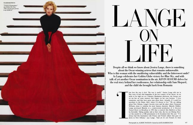 Article Preview: LANGE ON LIFE, March 1995 1995 | Vanity Fair