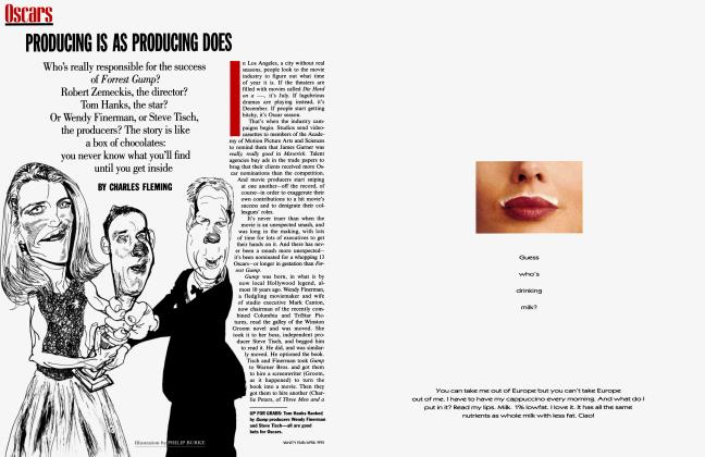 Article Preview: PRODUCING IS AS PRODUCING DOES, April 1995 1995 | Vanity Fair