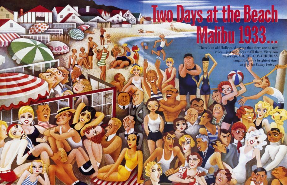 Two Days at the Beach Malibu 1933... ...Malibu 1995