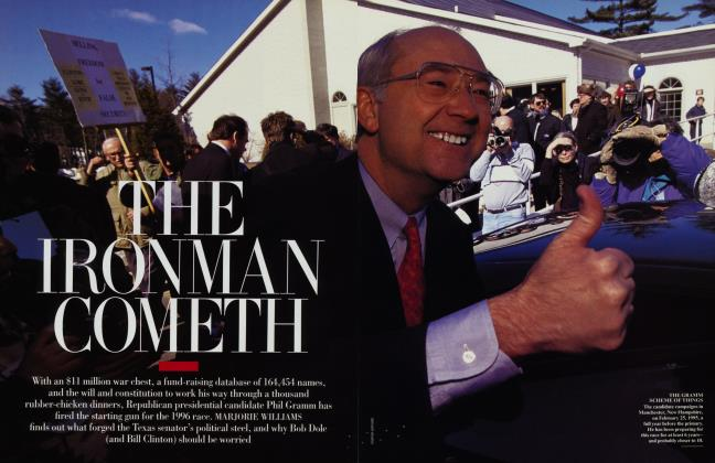 Article Preview: THE IRONMAN COMETH, May 1995 1995 | Vanity Fair