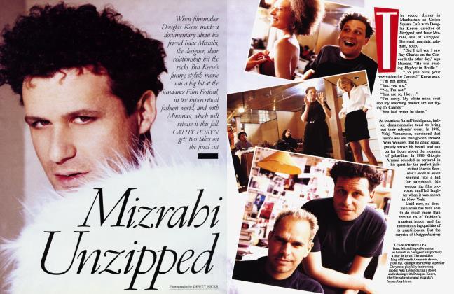 Article Preview: Mizrahi Unzipped, June 1995 1995 | Vanity Fair