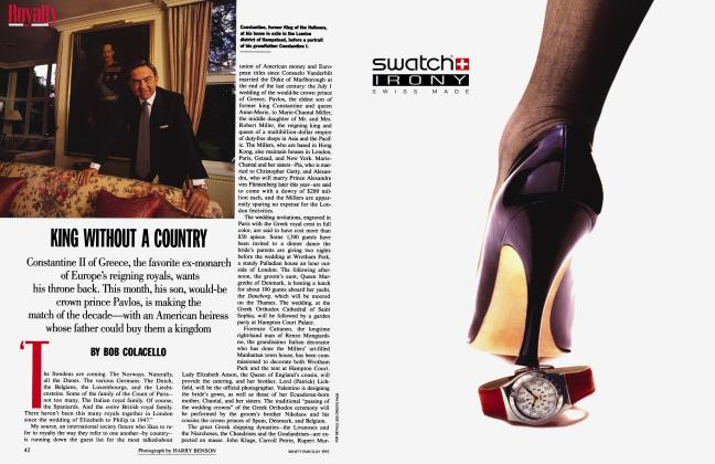 Article Preview: KING WITHOUT A COUNTRY, July 1995 | Vanity Fair