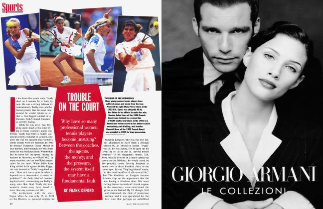 Article Preview: TROUBLE ON THE COURT, August 1995 | Vanity Fair