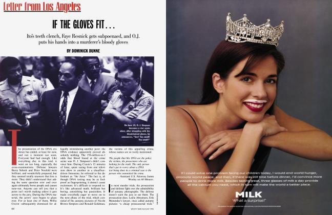 Article Preview: IF THE GLOVES FIT..., August 1995 | Vanity Fair