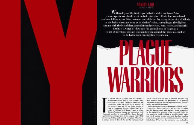 Article Preview: PLAGUE WARRIORS, August 1995 | Vanity Fair