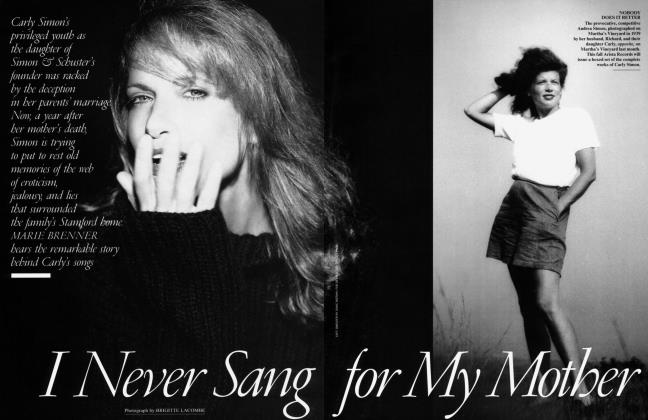 Article Preview: I Never Sang for My Mother, August 1995 | Vanity Fair