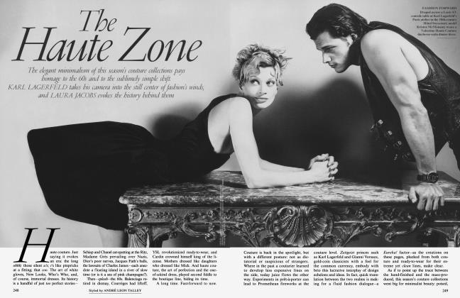 Article Preview: The Haute Zone, October 1995 1995 | Vanity Fair